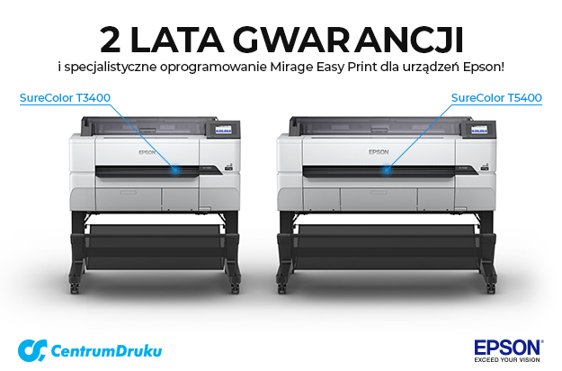 8129c473fe2afa 2 lata gwarancji na wybrane plotery Epson + Oprogramowanie Mirage Easy Print