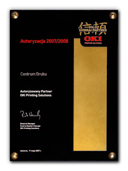 Centrum Druku - Gold Shinrai Partner Oki