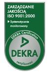 Jakość potwierdzona certyfikatem ISO 9001:2000